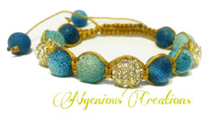 LUXE EDITION: GEMSTONE AND GOLDEN PAVE SHAMBALLA BRACELET