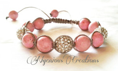 LUXE EDITION: GEMSTONE AND SILVER PAVE SHAMBALLA BRACELET