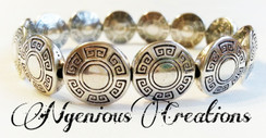 N'GENIOUS CREATIONS EXCLUSIVE VINTAGE SILVER STRETCH BRACELET