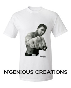 N'GENIOUS CREATIONS EXCLUSIVE ICON SERIES TSHIRT- MUHAMMAD ALI