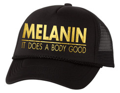 MELANIN SNAP BACK TRUCKER HAT