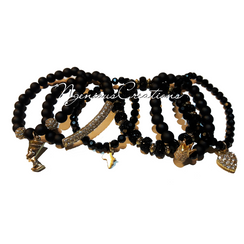 BLACK QUEEN 6PC BRACELET SET