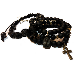 MEN'S BLACK 4PC BRACELET SET