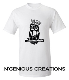 N'GENIOUS CREATIONS OWL SIGNATURE TEE