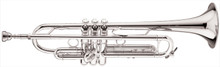 "Bach Professional Stradivarius ""New York"" Bb Trumpet, Silver-Plated - LT180S77"