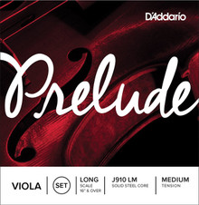 "D'Addario Prelude (Steel Core) Viola - Long 16""+"