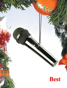 Broadway Gifts Holiday Ornament with Decorative Packaging - Microphone