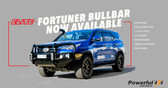 TOYOTA FORTUNER ELITE BULLBAR + LED LIGHT BAR + FOLDING ANTENNA BRACKET