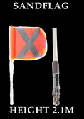 2.1m Safety Sand Flag