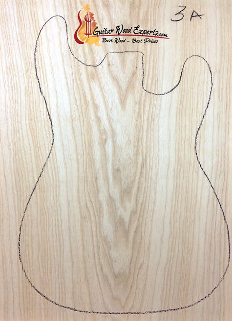 Swamp Ash Body Blank - One Piece - 3A