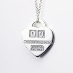 Ohio University, OU Heart Pendant, Keith Chapman Jewelry - back detail