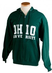 Green Ohio University Full-Zip Hooded Sweatshirt