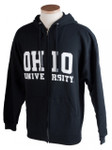 Black Ohio University Full-Zip Hooded Sweatshirt