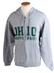 Grey Ohio University Full-Zip Hooded Sweatshirt