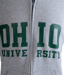 Grey Ohio University Full-Zip Hooded Sweatshirt Zoom
