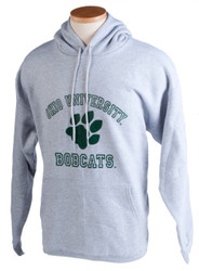 Paw Ohio University Bobcats Grey Hooded Sweatshirt
