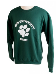 Paw Ohio University Alumni Crew Sweatshirt, Hunter Green