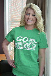 OHIO UNIVERSITY GO GREEN LOGO T-SHIRT