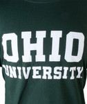 Ohio University Long-Sleeve Hunter Green T-Shirt - Logo Detail
