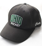 OHIO Ice Hockey Fitted Hat - Black