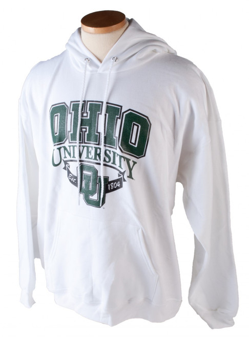 90s Ohio University OU w/ Ribbon Hooded Sweatshirt