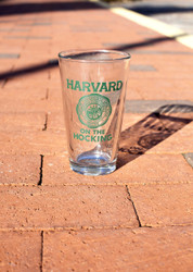 Harvard on the Hocking Pint Glass Set