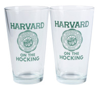 Harvard on the Hocking Pint Glasses