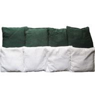 Green & White Plain Bags - Set of 8