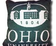 Green Ohio University Pillow