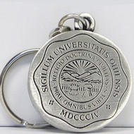 Ohio University Seal Pewter Keychain