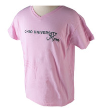Ladies OU Mom Pink V-Neck T-Shirt