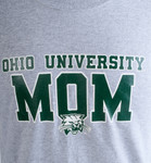 Ohio University Mom Grey T-Shirt Detail