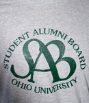 Ohio University Student Alumni Board Grey T-Shirt, Logo Detail