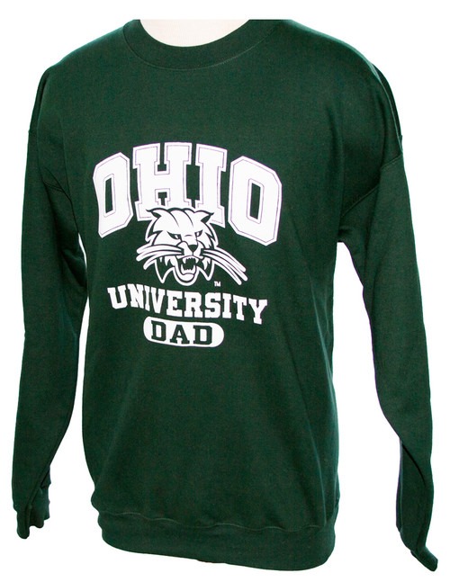 OU Attack Cat Dad Green Crew Sweatshirt