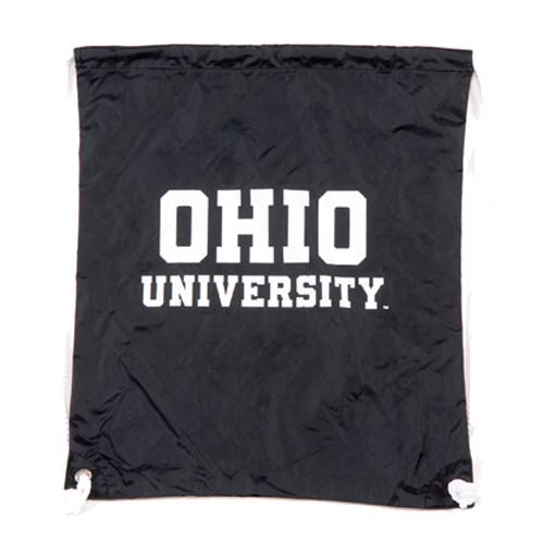 Black OU Drawstring Backpack