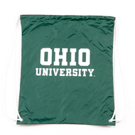 Green OU Drawstring Backpack