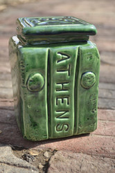 Athens Block Paw Jar