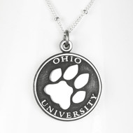 Ohio University Paw medallion pendant