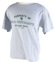 OHIO UNIVERSITY PROPERTY OF ALUMNI DEPT. T-SHIRT