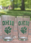 OHIO Paw Pint Glasses.