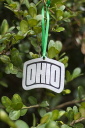 Arched OHIO Pewter Holiday Ornament