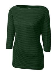 Woman's  3/4 Sleeve Holly Park Tonal Stripe Knit
