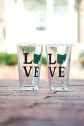 OHIO Love Pint glass Set