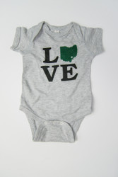 Ohio LOVE Onesie - Rabbit Skin