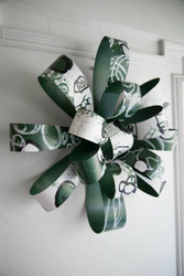 Green and White Bobcat Wreath - Passion Works Studio