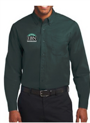 Men's and Women's Ebony Bobcat Network Buttondown Shirt