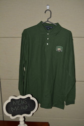 Green Long Sleeve Attack Cat Polo