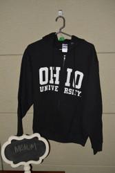 Black Ohio University Zip Up