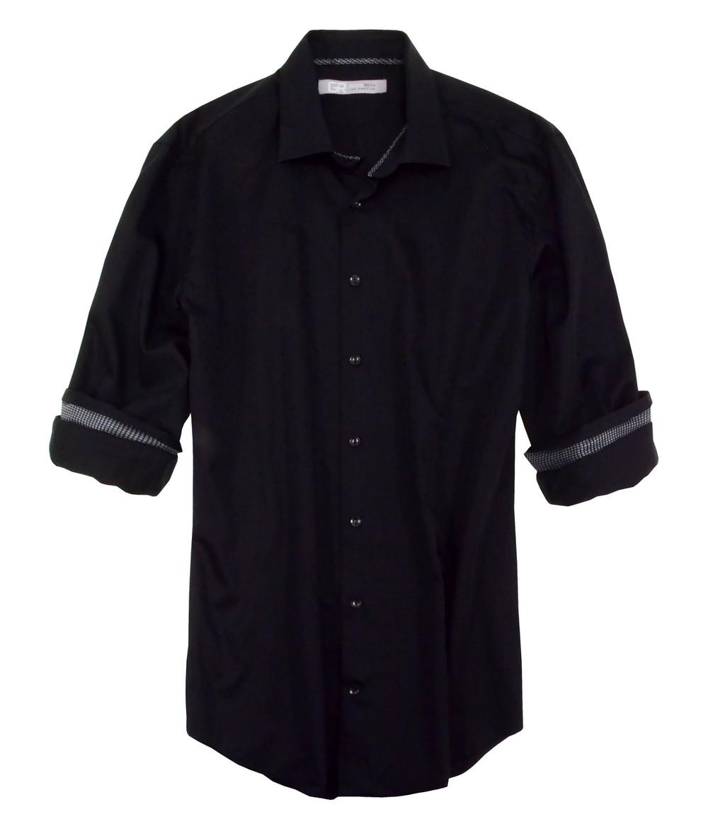 Long-Sleeves Ton on Ton Cotton Mens shirt 100% Cotton