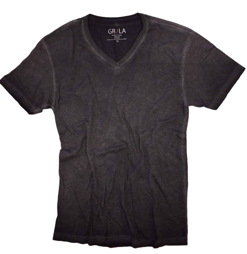 Men's Short Sleeves T-Shirt Color Basalt Grey / Garment Dyed Sizes S - XXL 60% Cotton / 40% Polyester